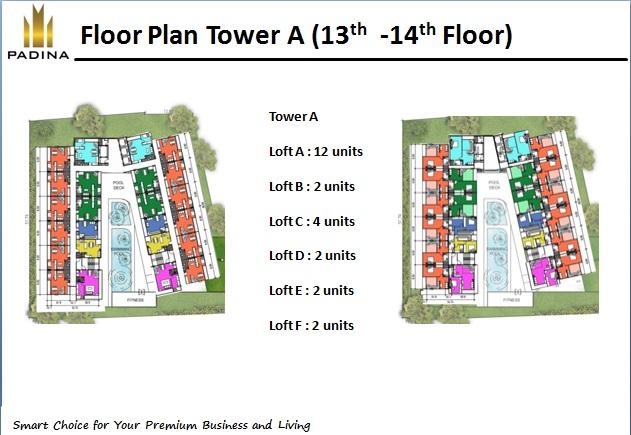 Floor Plan Tower A ( 13th - 14th Floor )