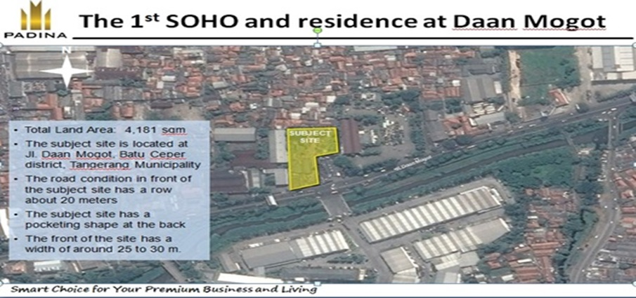 lokasi padina residence