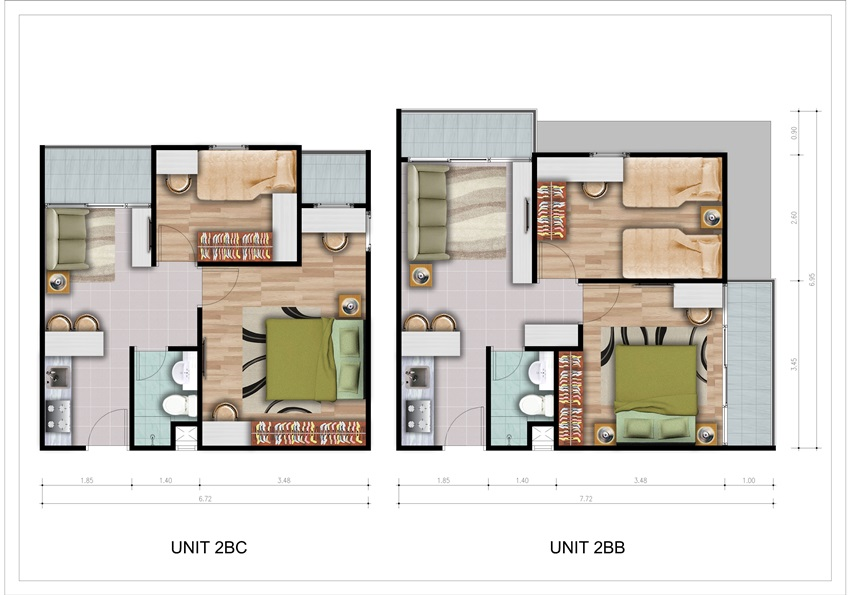 TYPE UNIT 2 BEDROOM B