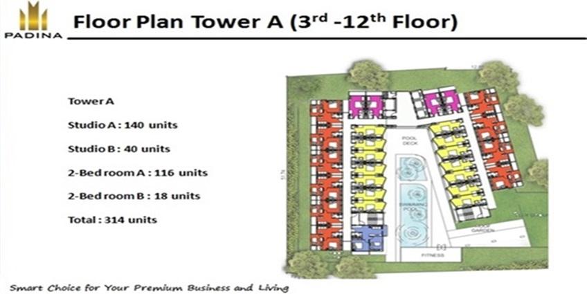 Floor Plan Padina Residence